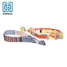 Custom design one time used woven wristband