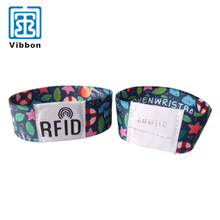 China supplier New design Elastic Polyester Material Wristband For Festival