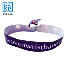 One Time Use Wristbands Polyester Custom Cloth satin Wristband