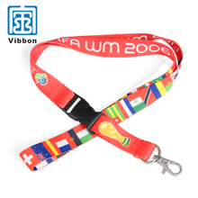 Custom design no minimum order polyester lanyards with logo